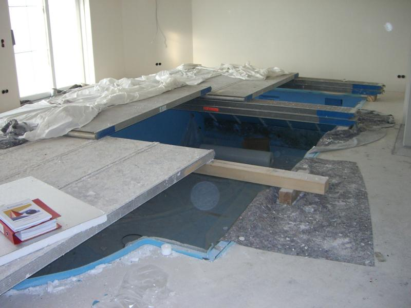 Expert's opinion on a calcium sulphate screed in the wet section of a private home in Obermemmingen