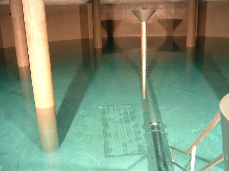 Consulting service on screed efflorescence in a water reservoir